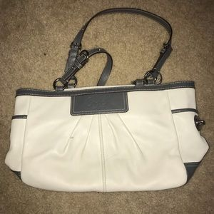 Coach Bag-White Leather